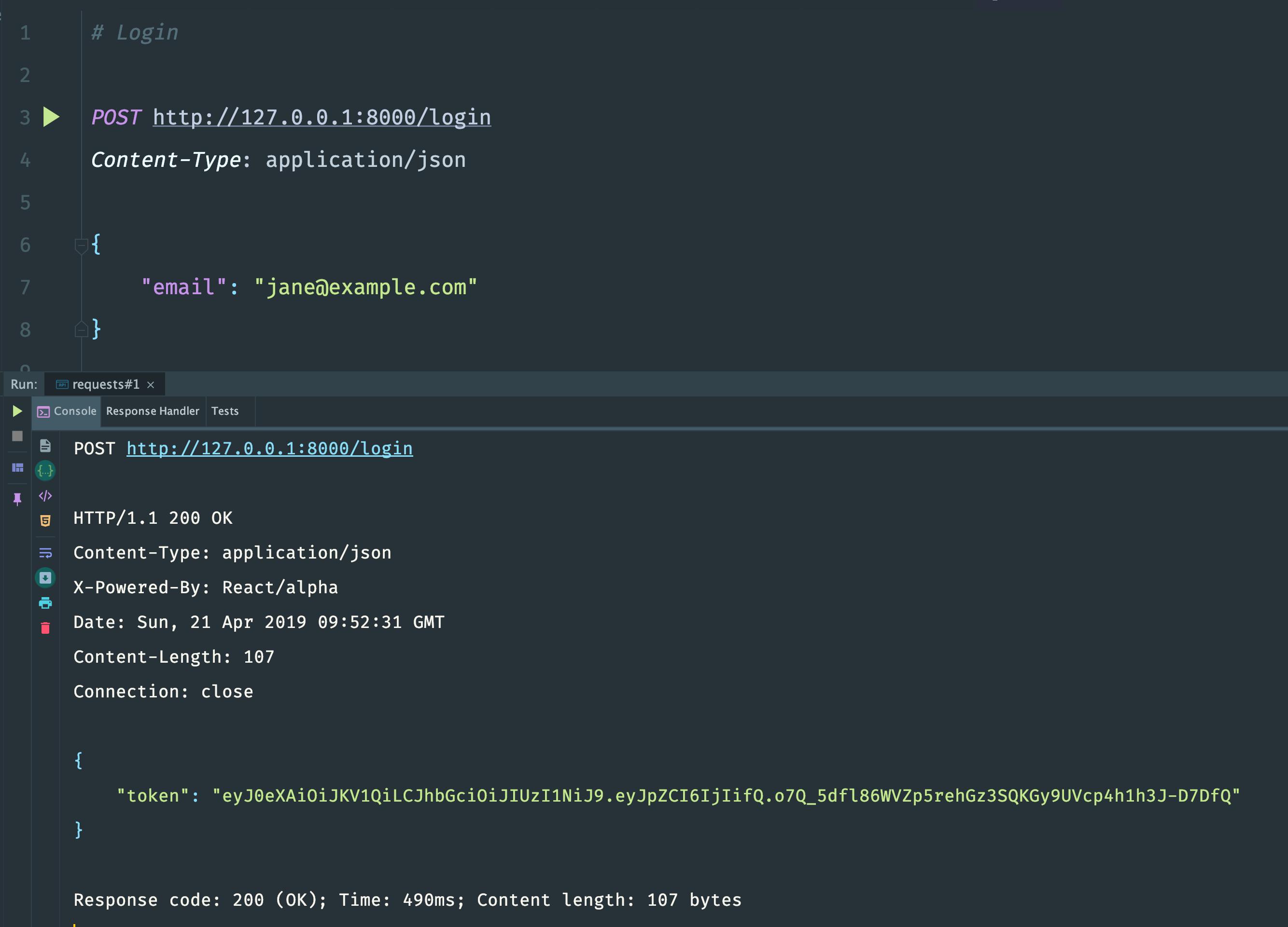Building a RESTful API Using ReactPHP: JWT Authentication · @zhukserega