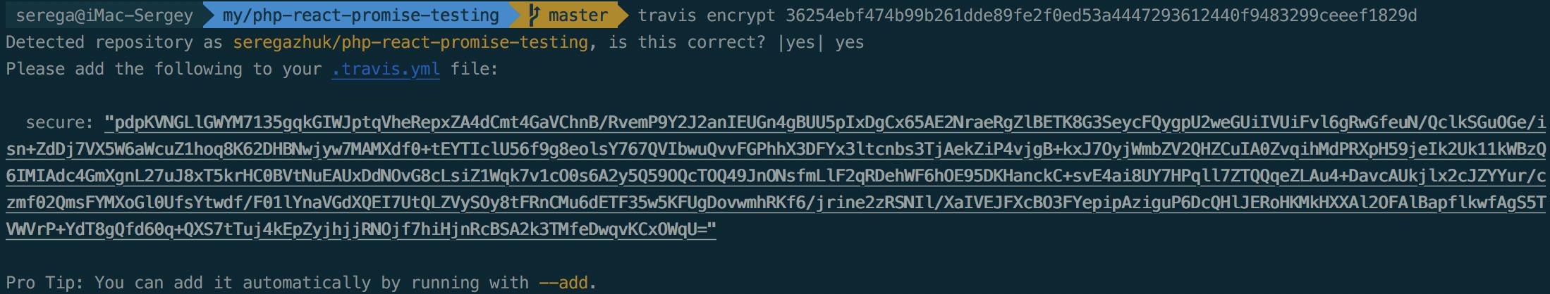 travis-encrypt